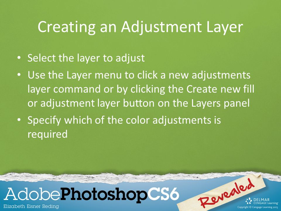 Creating an Adjustment Layer