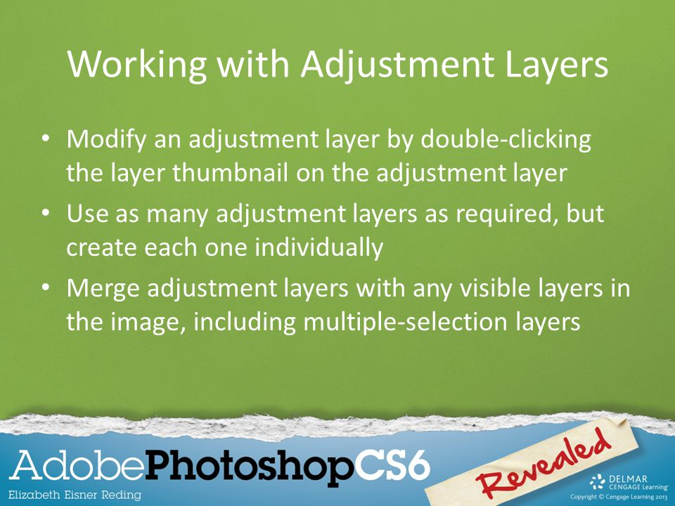 Working with Adjustment Layers