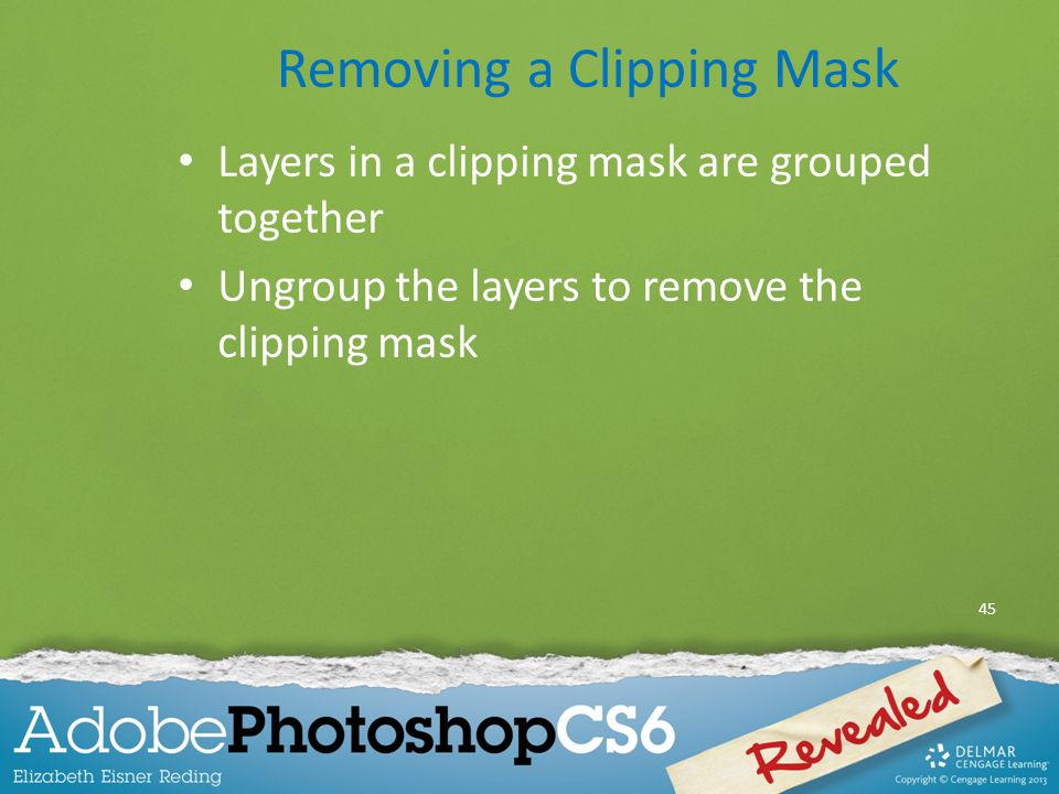 Removing a Clipping Mask