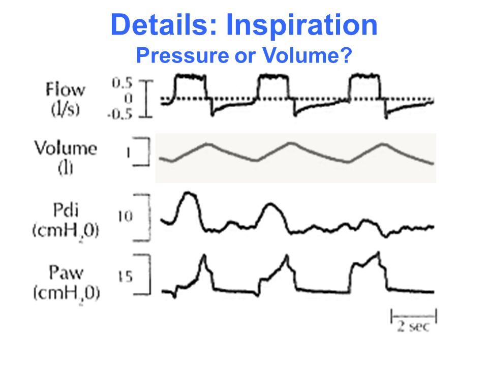 Details: Inspiration Pressure or Volume