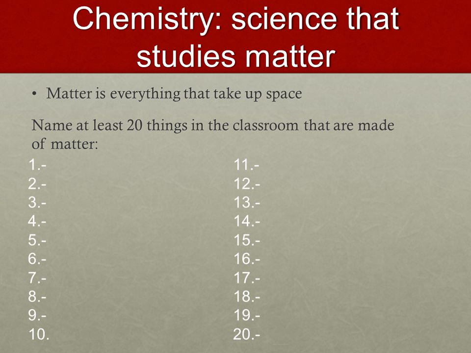 Chemistry a study of matter worksheet answers 8 36