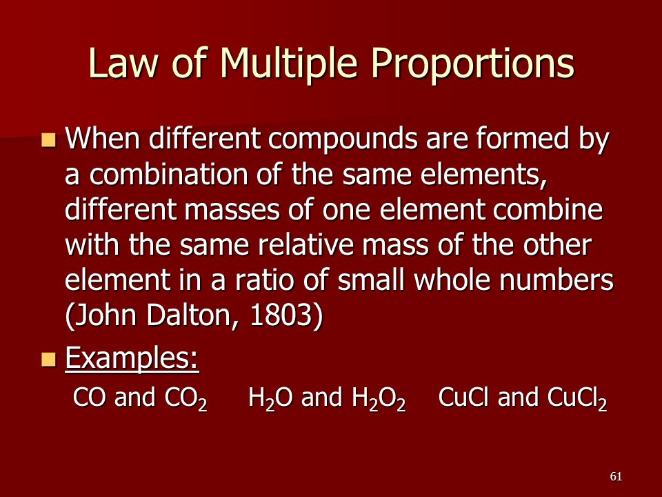 Matter Properties and Changes ppt download – Law of Multiple Proportions Worksheet