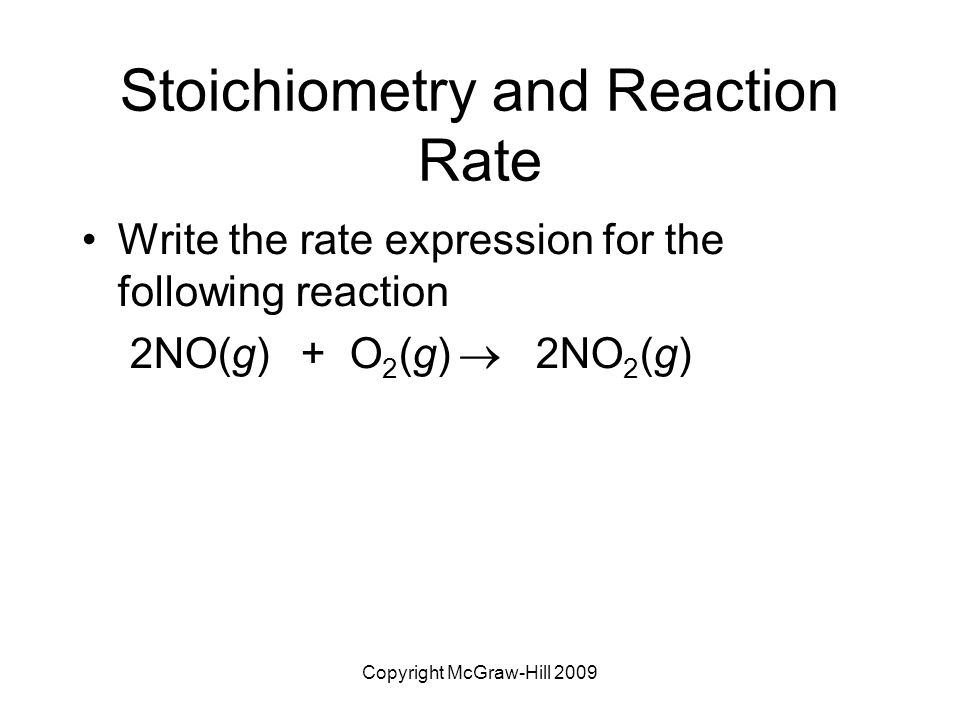 Write rate law expressions?