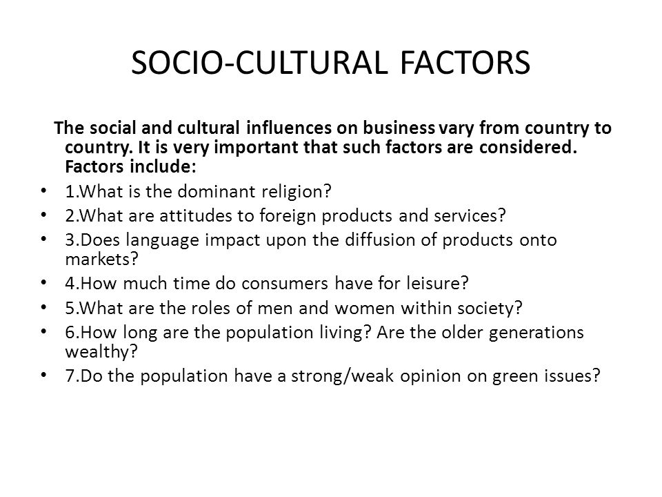 Problems With Sociocultural Forces in Businesses