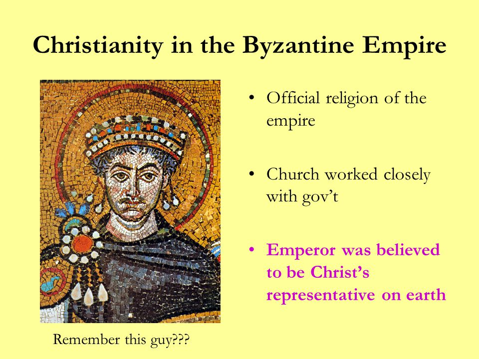 Christianity in the Byzantine Empire