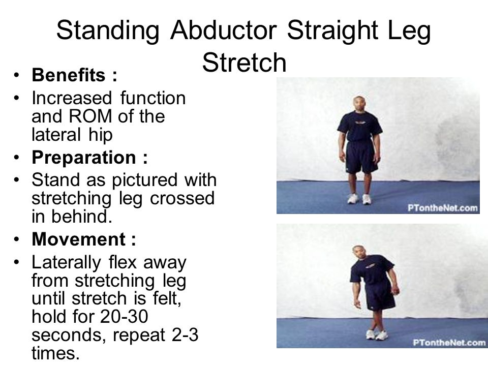 Standing Abductor Straight Leg Stretch