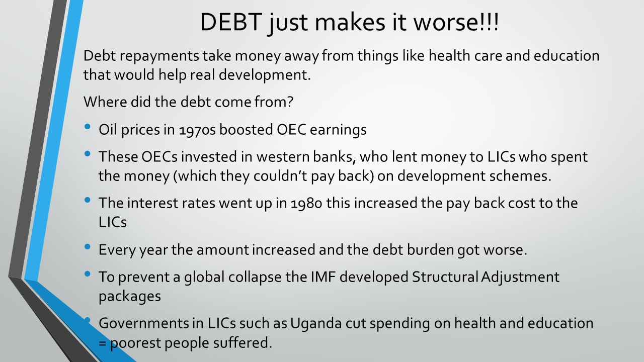 the problem of debt burden in hipc countries like tanzania The 1996 heavily indebted poor countries (hipc) initiative, supplemented by the 2005 multilateral debt relief initiative, has helped 35 sub-saharan african countries cancel $100 billion in .