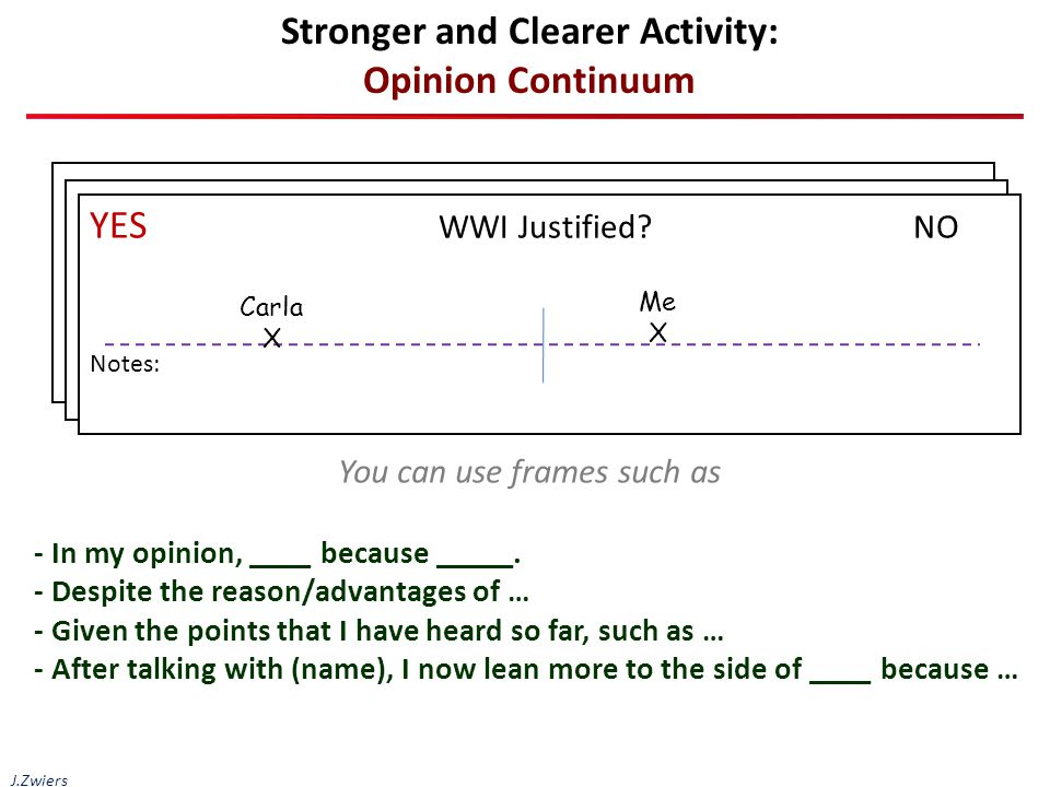 Stronger and Clearer Activity: Opinion Continuum