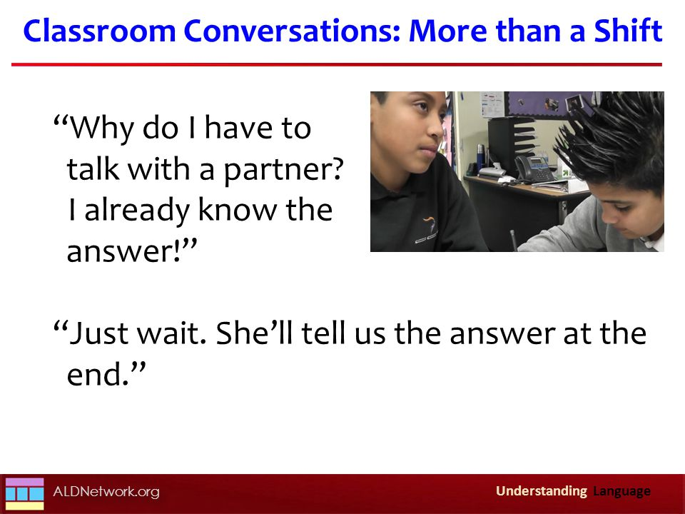 Classroom Conversations: More than a Shift