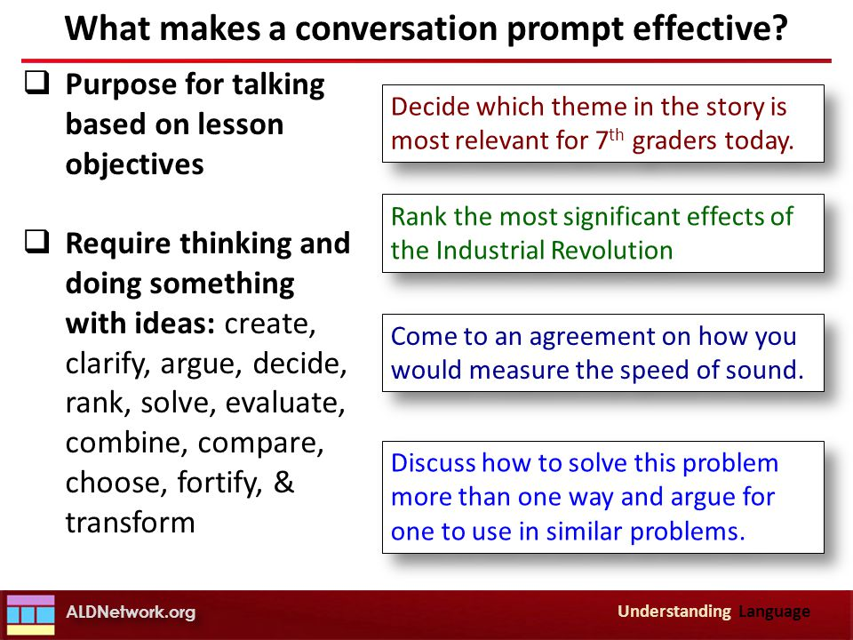 What makes a conversation prompt effective