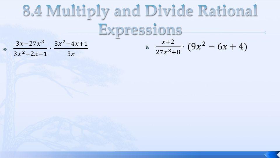 Multiplying And Dividing Rational Expressions Worksheet Algebra 2 ...