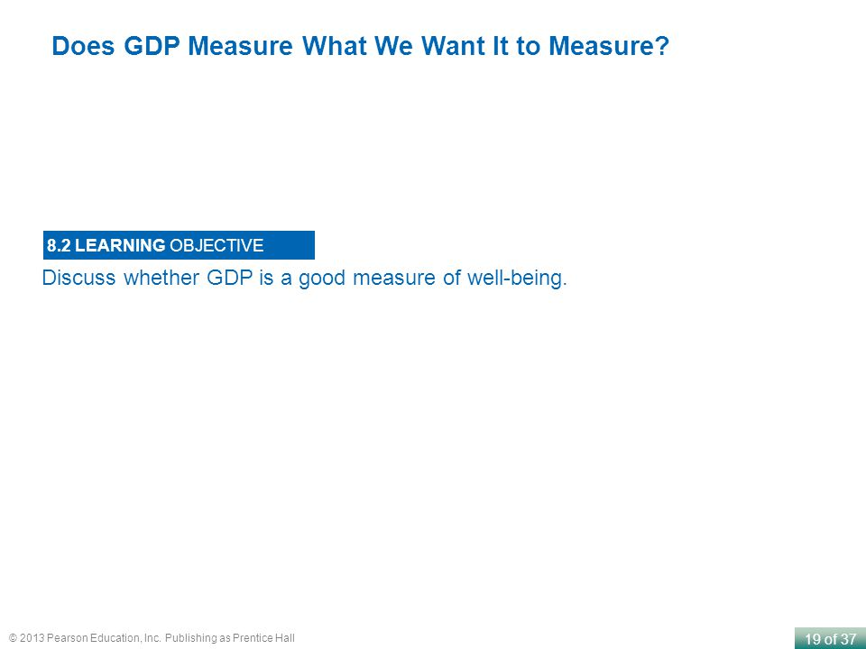 Does GDP Measure What We Want It to Measure