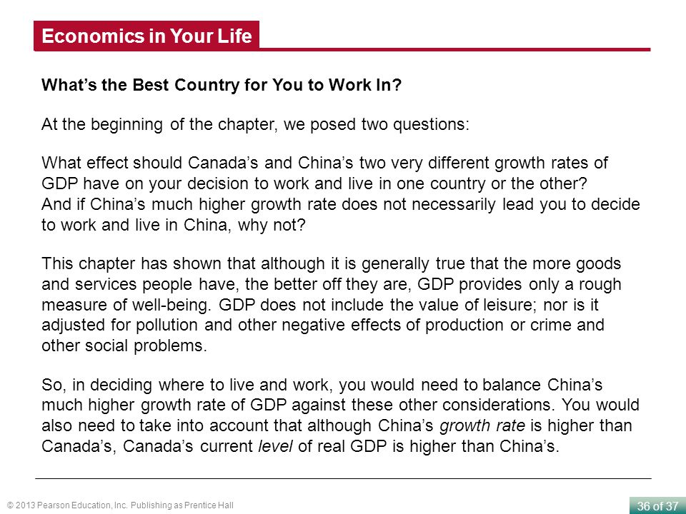 Economics in Your Life What's the Best Country for You to Work In