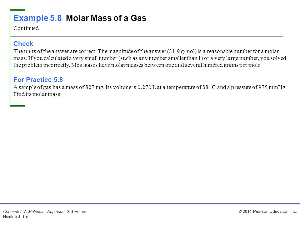 molar volume of gas essay example To determine the molar volume of carbon dioxide gas and the amount of sodium carbonate in a sample equipment and materials use the molar mass of co 2 and the mass loss (10) 13.