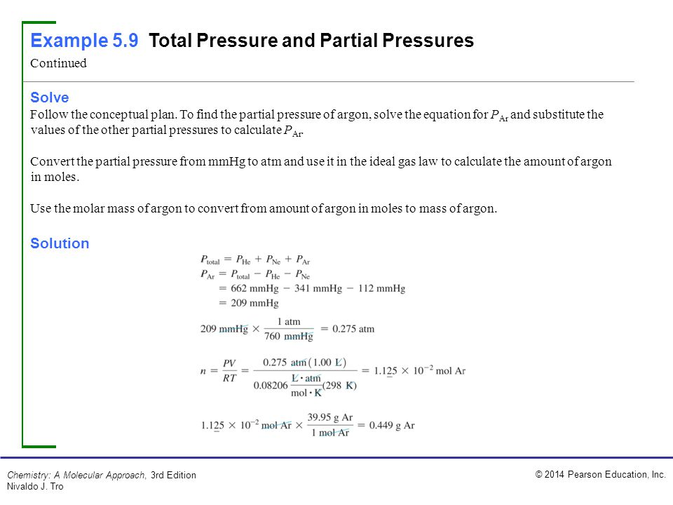 total pressure equation chemistry. example 5.9 total pressure and partial pressures equation chemistry t