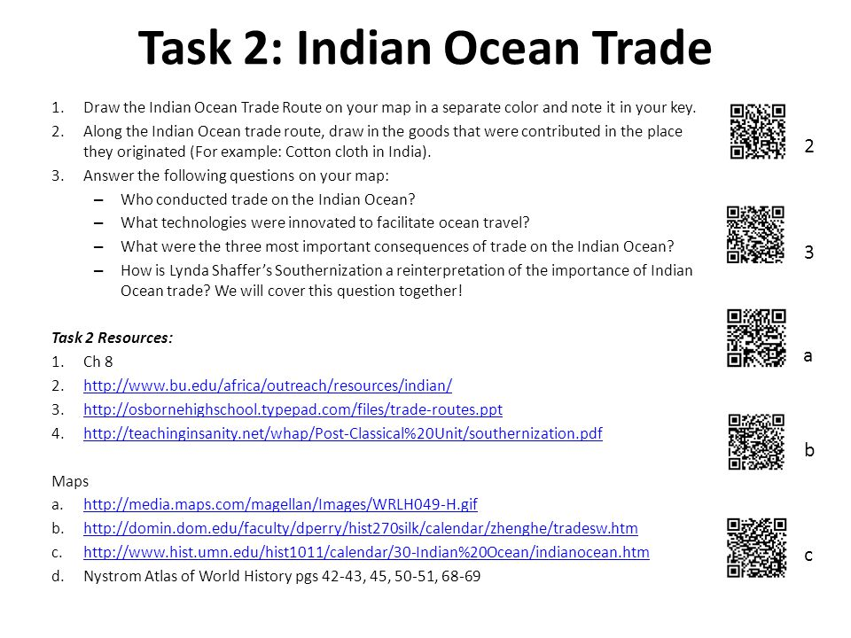 Task 1 The Silk Road 3 4 a b c Draw the Silk Road on your map and