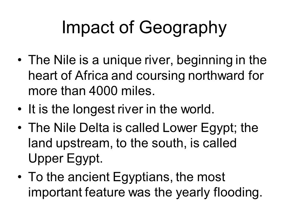 geography has a significant impact on