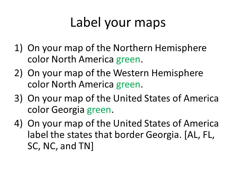 Georgia Geography SSG The Student Will Describe Georgia With - Georgia map label