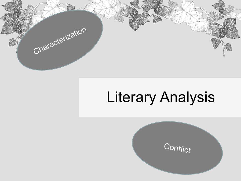 literary analysis characterization