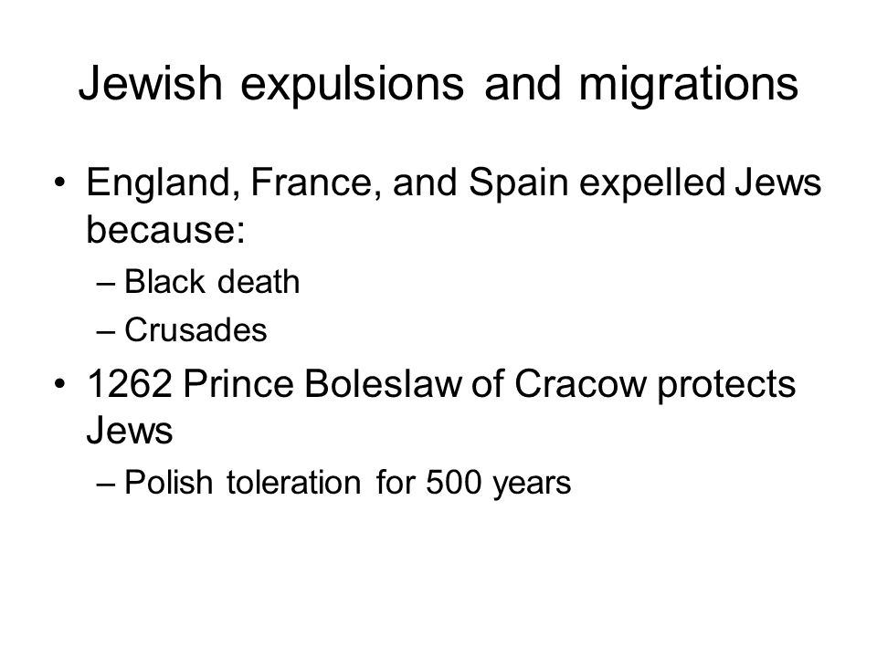 Jewish expulsions and migrations