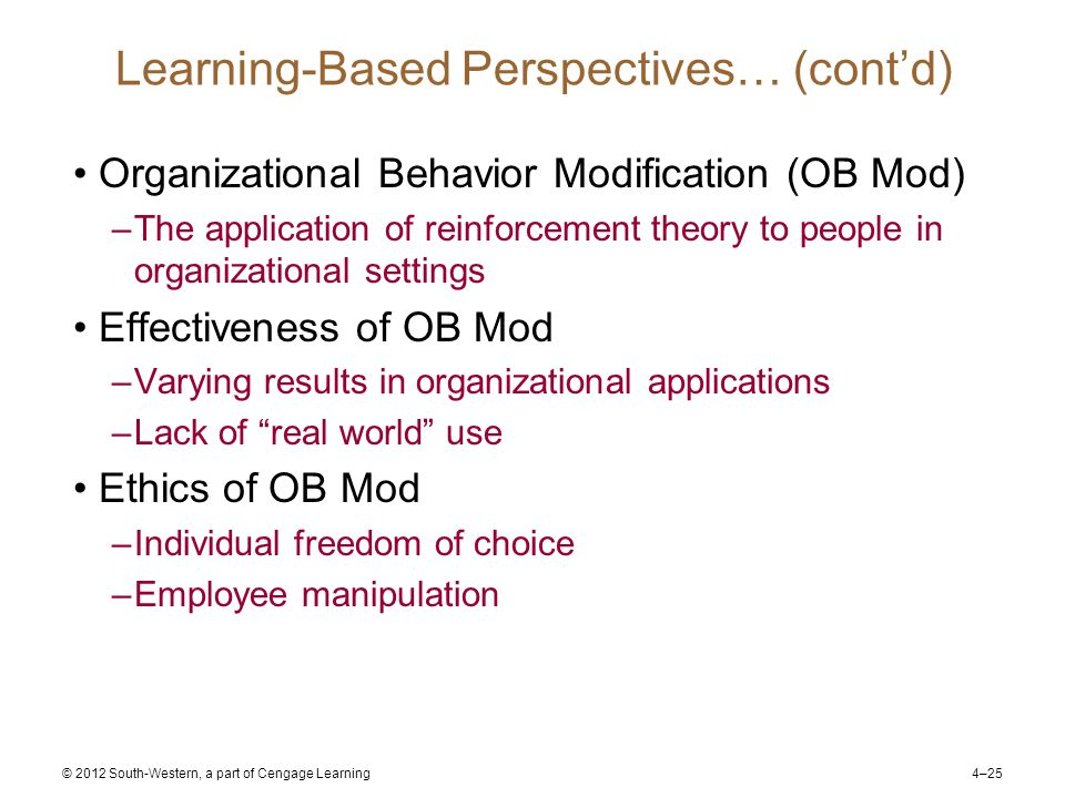 organisational behavior based on toyota Toyota motor corporation: organizational culture  it is also based on several  essential principles, such as continuous  behaviour are.