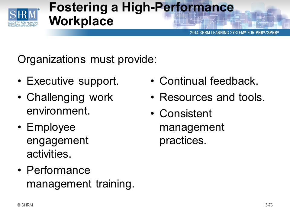 high performance work organizations essay Organizational culture and business performance.