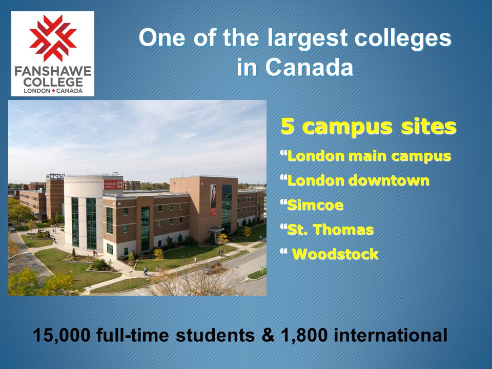 fanshawe college dating site Fanshawe college day away programs  this unique arrangement allows post-secondary bound students the chance to experience life and learning at the college level.