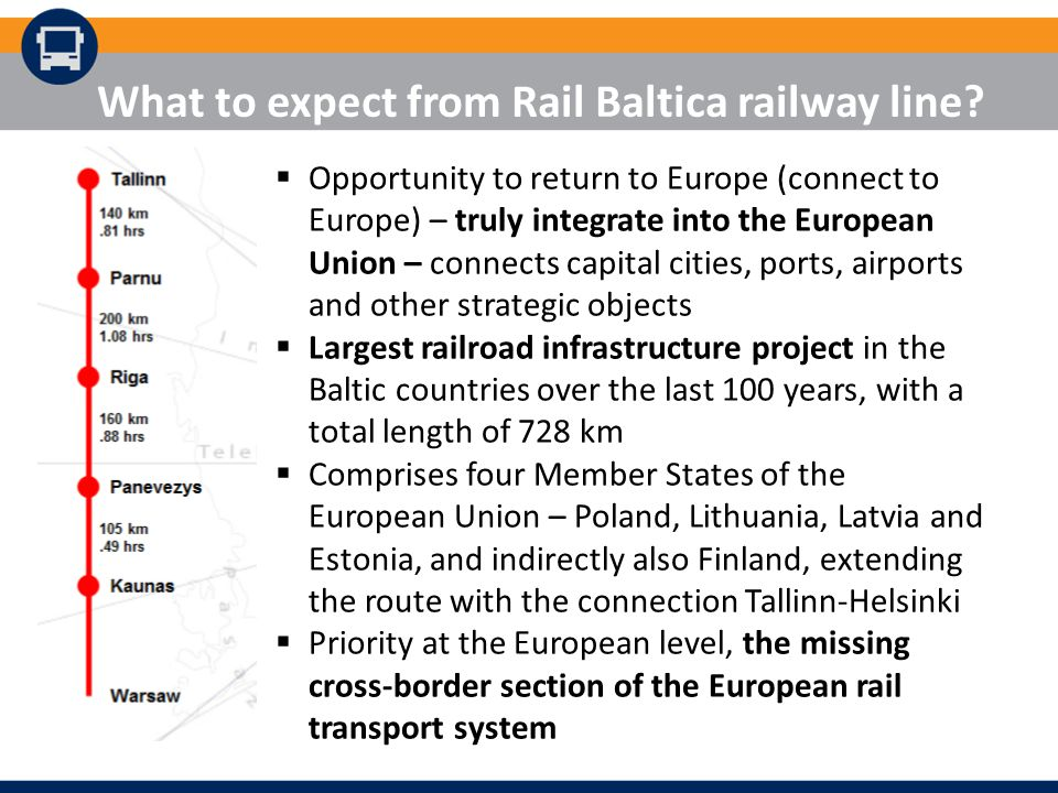 What to expect from Rail Baltica railway line