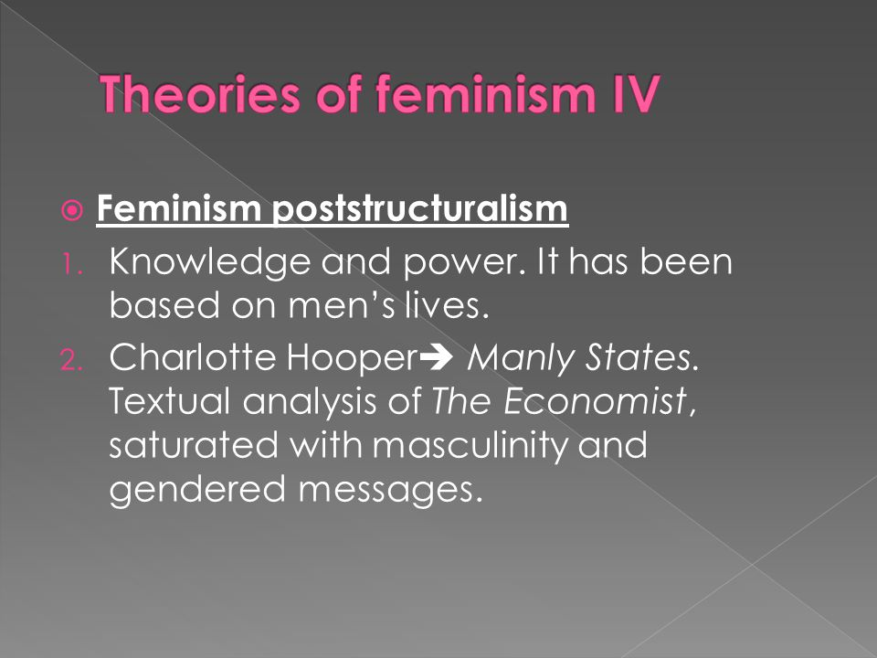 Theories of feminism IV