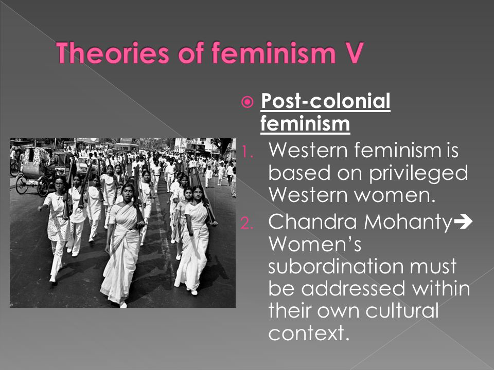 Theories of feminism V Post-colonial feminism