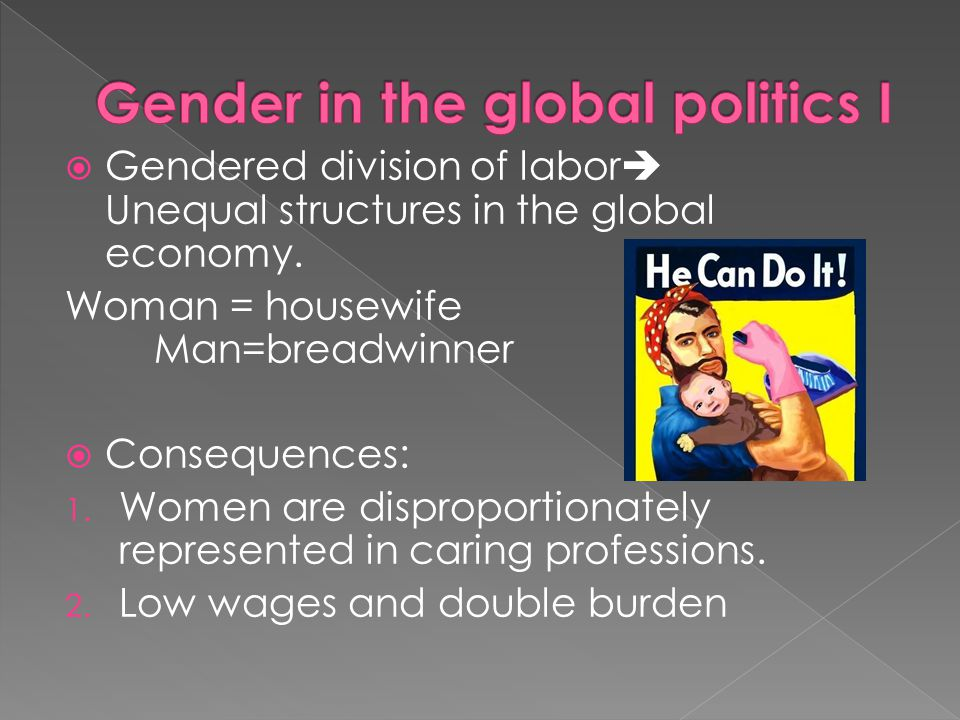 Gender in the global politics I
