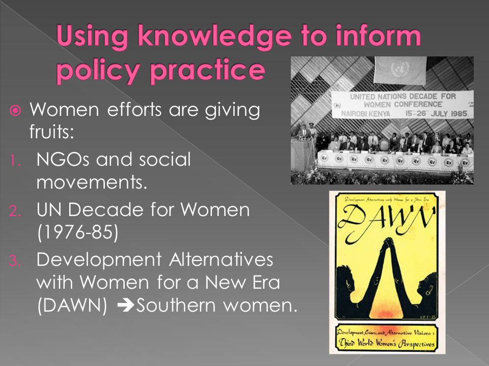 Using knowledge to inform policy practice