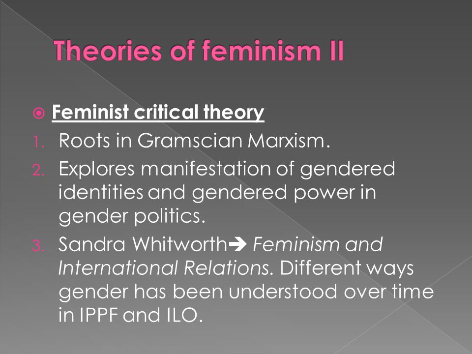 Theories of feminism II