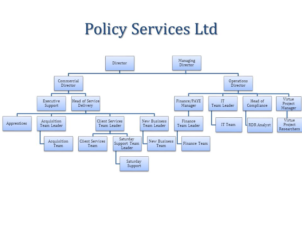 Policy Services Ltd Managing Director Director Commercial Director