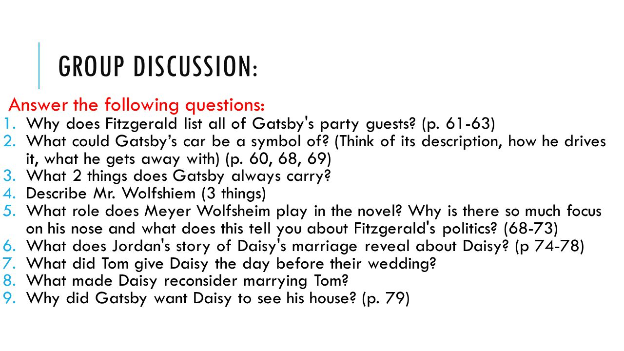 the description of moral responsibility in the story the great gatsby In f scott fitzgerald's 1920s era novel the great gatsby, the character george wilson shoots the protagonist jay gatsby dead but who is to blame for this moral lapse in judgment obviously the person this makes him directly accountable for the death of gatsby and thus morally responsible daisy also comes in for her.