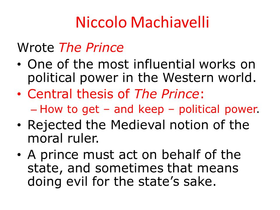 Political power in the prince by