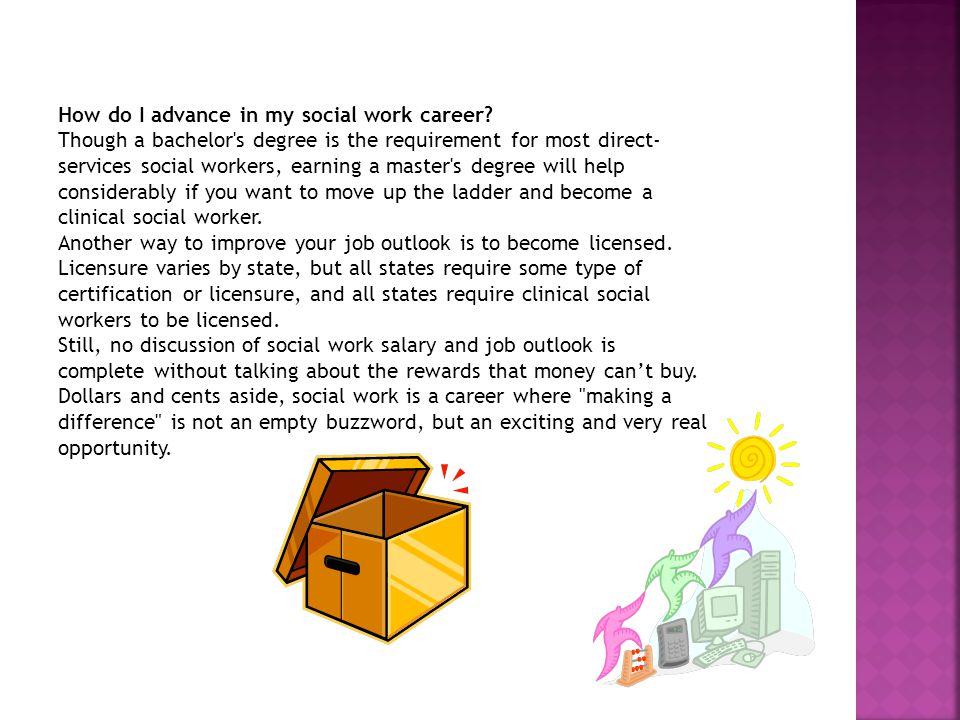 how do i advance in my social work career