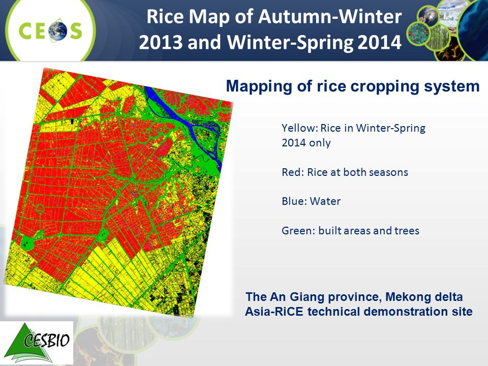 Rice Map of Autumn-Winter 2013 and Winter-Spring 2014