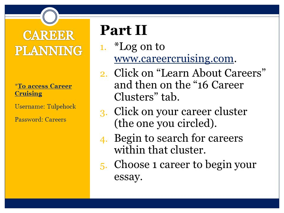 "essays on career plan 1 draft a career plan document, starting with the title at the top of ""career plan for (your name) the document can be as simple or detailed as you like, but."