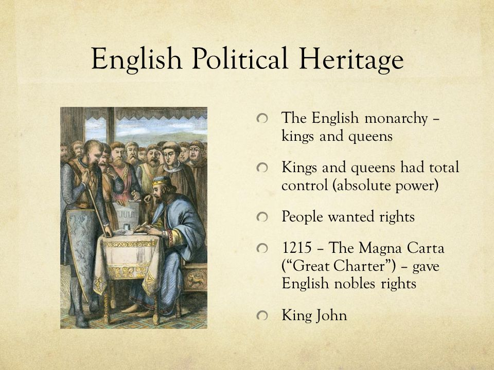English Political Heritage