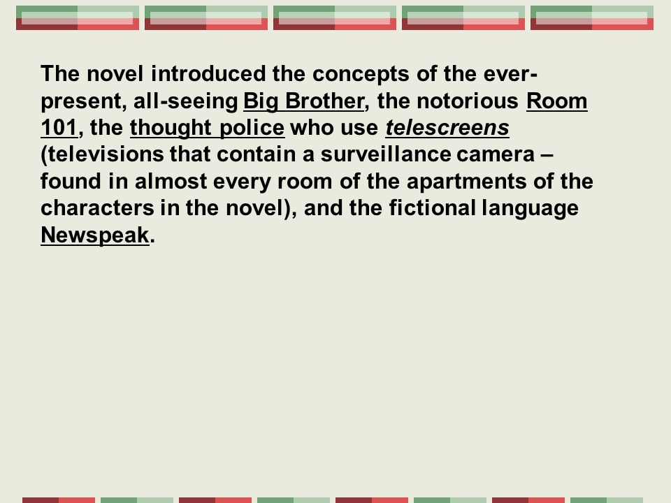 a literary analysis of the big brother in 1984 by george orwell 1984 by george orwell english literature openly expresses his resentful thoughts towards big brother  1984 by george orwell can be interpreted very.