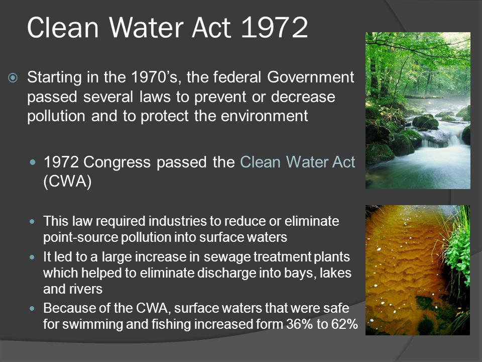 Clean Water Act 1972