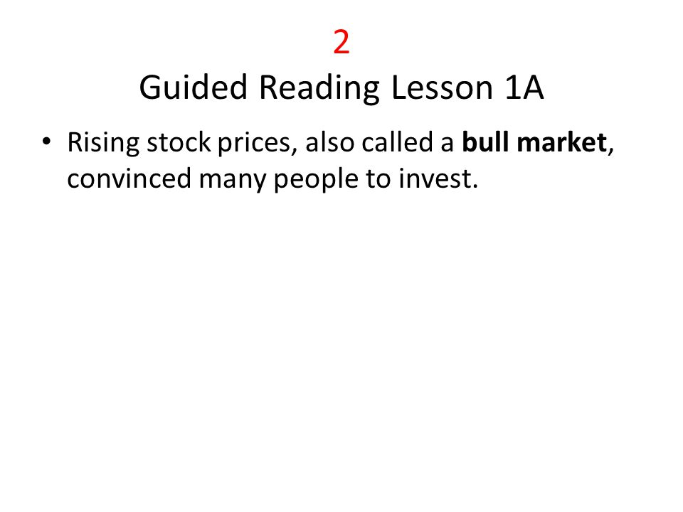 2 Guided Reading Lesson 1A