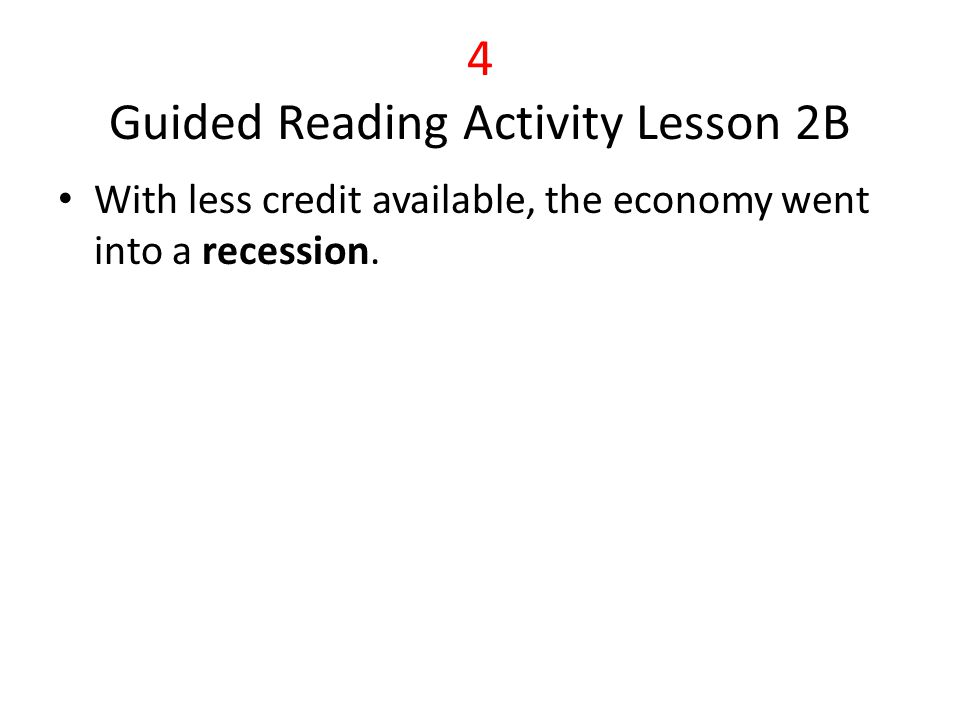 4 Guided Reading Activity Lesson 2B