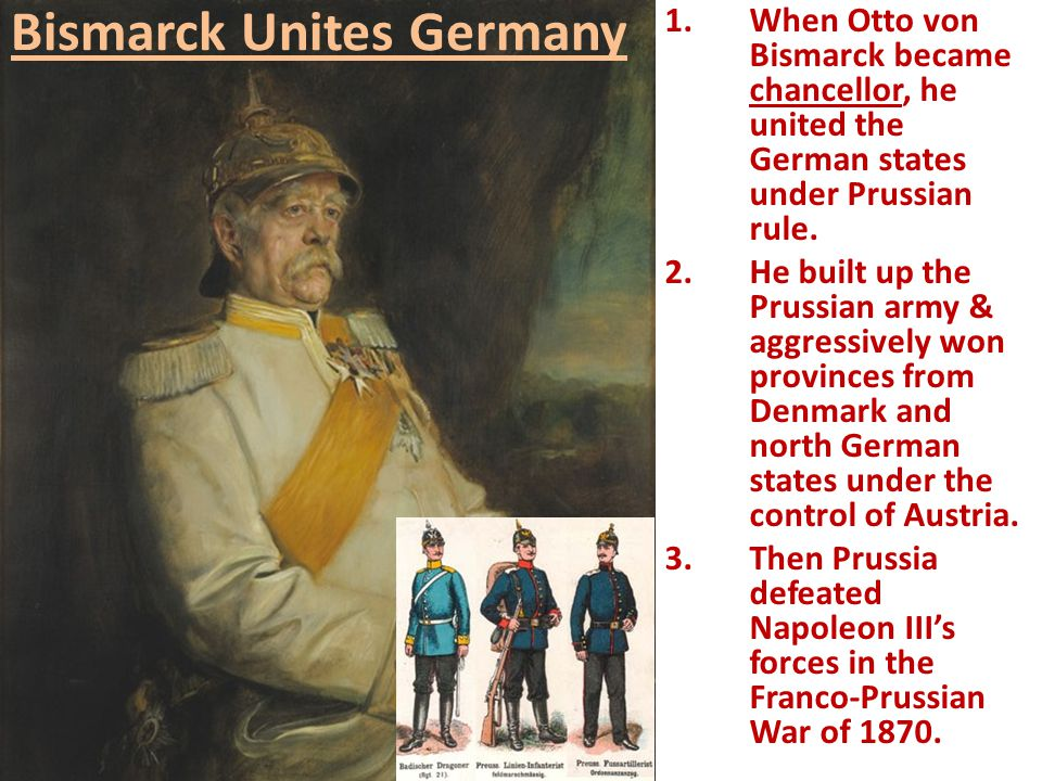 a history of the rule of bismarck as the chancellor in germany Any study of the history of germany in the inter-war era needs to bear in mind the  political  by prussia and the process of unification and codification of german  law began  historians still debate whether the german chancellor, bismarck,.