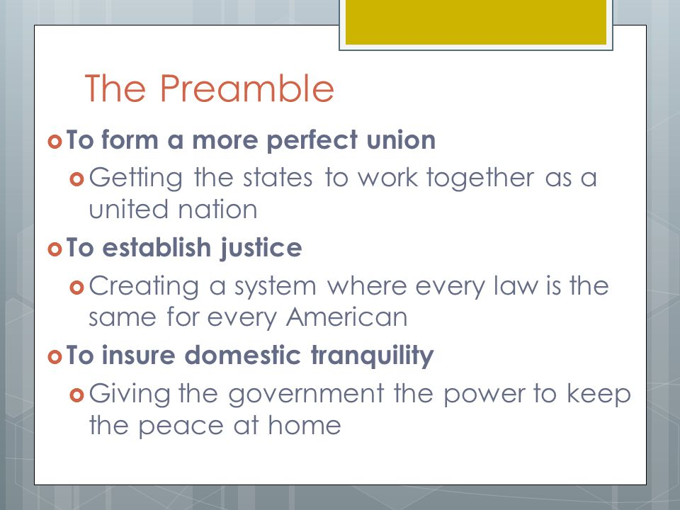 The Constitution and the Bill of Rights ppt download – Preamble Worksheet