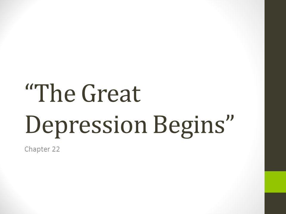 "The Great Depression Begins"" - ppt download"