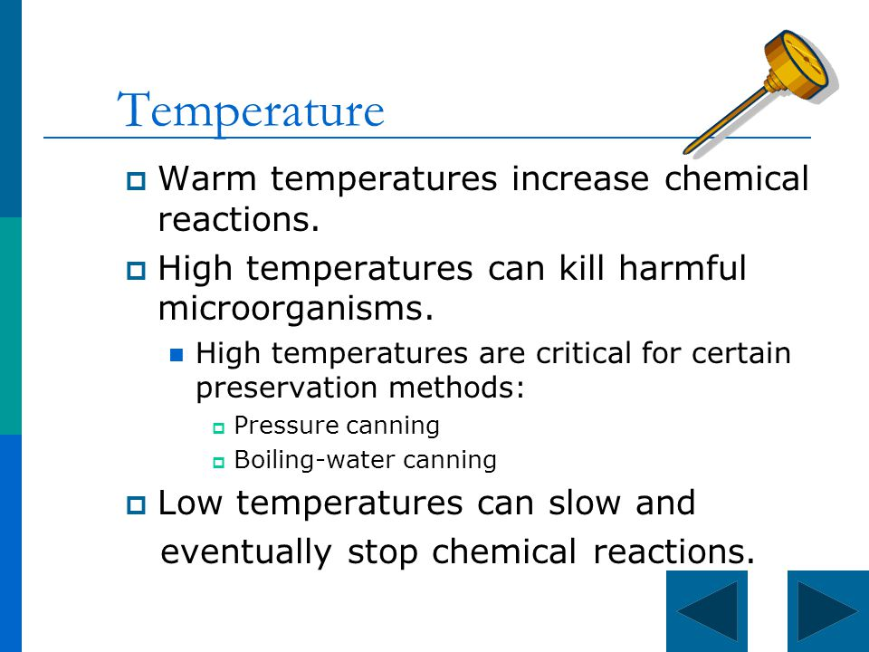 What is a real world example of a temperature change in a chemical reaction?
