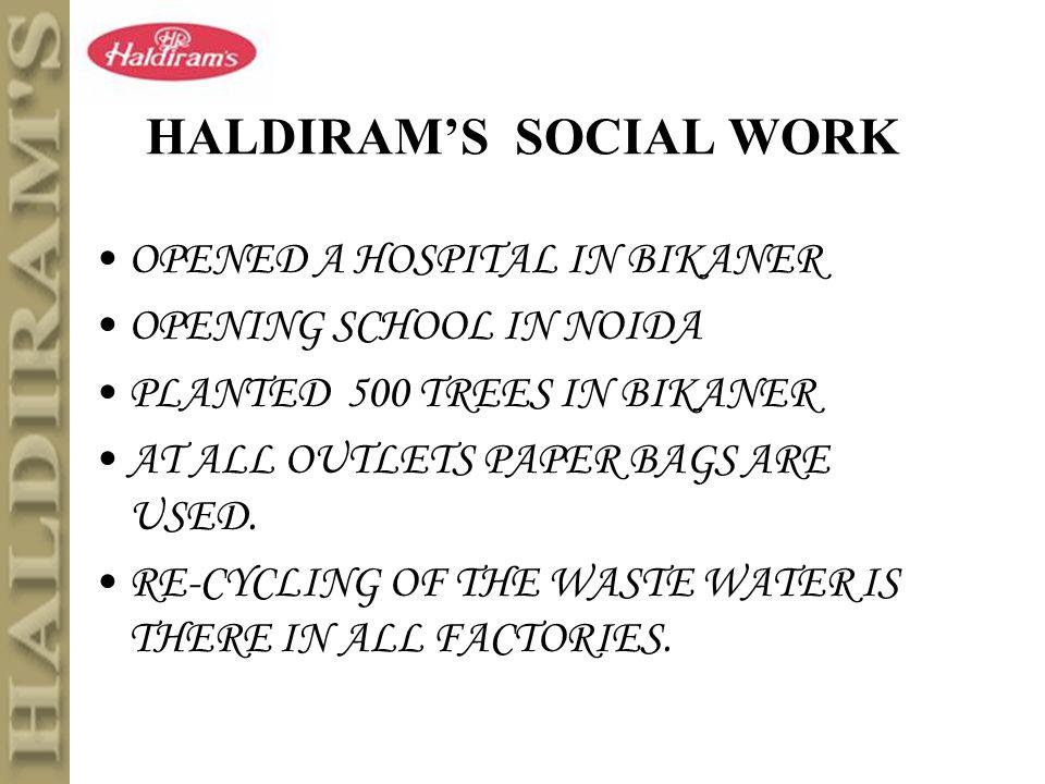 Haldiram brand history | Custom paper - July 2019 - 2446 words
