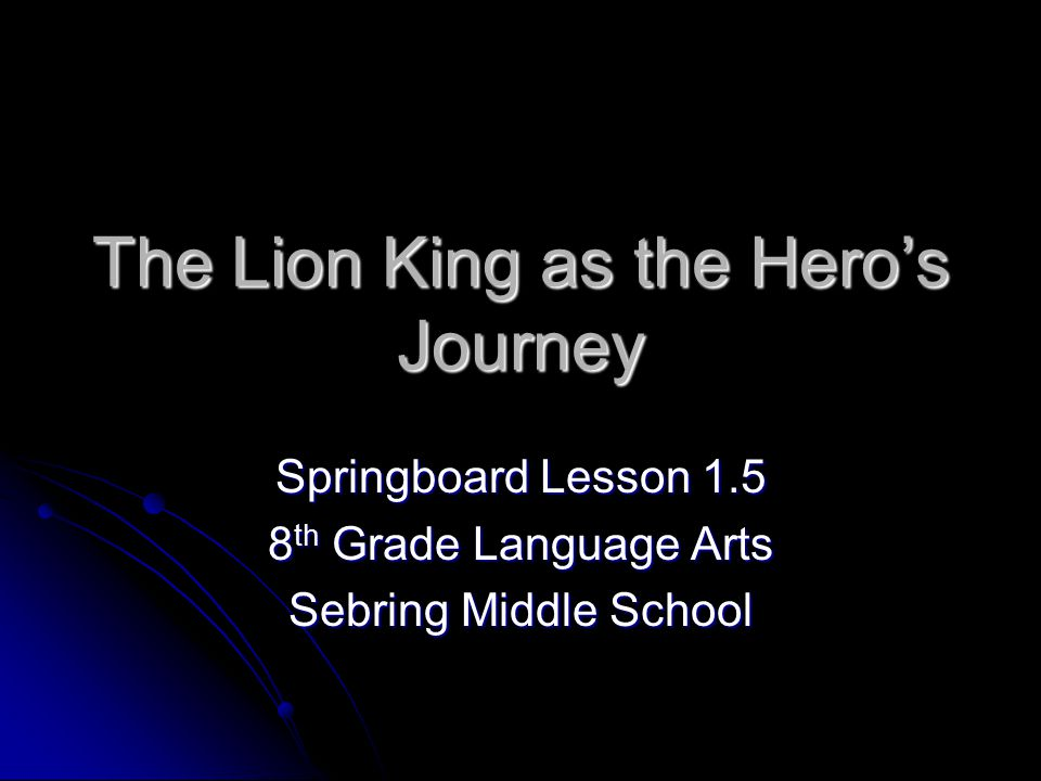 the lion king heros journey essay In the hero's journey these stages are visualized by using iconic  jungle  book and the lion king video essay details how all stories.